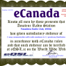 eCanada award from eQSL.cc, 28-Jan-2014