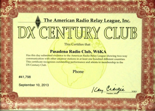 DX Century Club membership, 10-Sep-2013